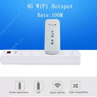 3G/4G Wifi Wireless Router LTE 100M SIM Card USB Modem Dongle White Fast Speed WiFi Connection Device