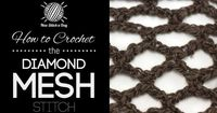 This video crochet tutorial will help you learn how to crochet the diamond mesh stitch. This stitch uses single crochet and chain stitches to create a very open diamond pattern. The diamond mesh stitch is great for making market bags, simple stoles and de...