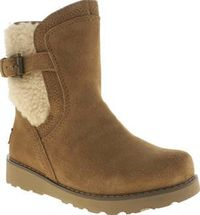 UGG australia Tan Jayla Girls Junior Ugg provide us with another super stylish boot for the season as Jayla arrives for the kids. This comfy pull-on boot features a premium tan suede upper. A little wedge adds a bit of extra height while http://www.compar...