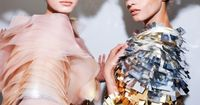 Sigrid Agren and Anna Selezneva backstage at Christian Dior Haute Couture F/W 2011-2012