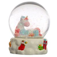 Collectable Chritmas Unicorn Snow Globe Waterball  If you like novelty and unique gifts and collectables then check out snow globes  Made from resin these fun items are great gifts and each hand painted to give them a unique and individual finish.  ...