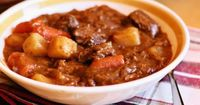 my favorite beef stew - i substitute a can or two of diced tomatoes for the tomato soup and add a can of green beans