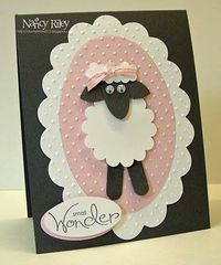Stampin' Up! Punch Art Nancy Riley Sheep Punch Art