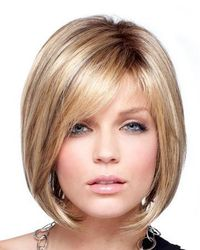 chin length bob with side bangs - Google Search