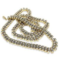 """LUXURY 2 ROW ICED OUT GOLD PLATED PHARAOH 30"""" 8MM HIP HOP BLING CHAIN NECKLACE  Special Features: Iced Out 2-row Luxury Premium Plating Edition Looks Like Costing Tens Of Thousands 6 Months Warranty Against Tarnish Dimensions: Length : 30 inches..."""