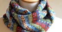 Hand Knit Fair Isle Scarf Grey Cashmere and by helengraydesigns Etsy Beautiful!