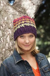 houndstooth hat {free crochet pattern}