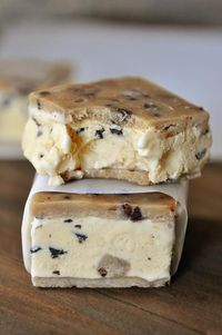 Santa's gonna have to relax...these Chocolate Chip Cookie Dough Ice Cream Sandwiches are for me.