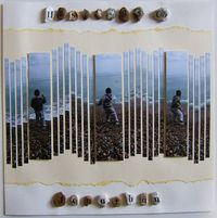 Great idea for beach pictures on scrapbook page.