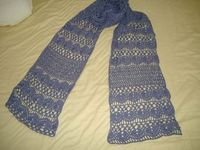 Crochet Blue Denim Scarf by DMC