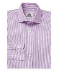 Lavender Pencil Stripes Cotton Shirt �'�1299.00