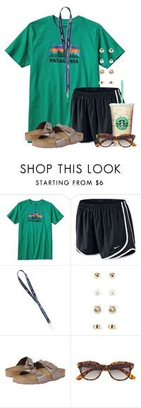 """Now I want a cookie:)"" by flroasburn � liked on Polyvore featuring Patagonia, NIKE, Forever 21, Birkenstock and H&M"