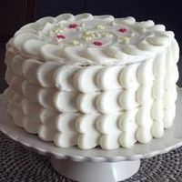 Easy Cream Cheese Frosting Recipe: 1/2 c Butter, 6oz Cream Cheese (softened), 2tsp Vanilla Extract, 2c Powdered Sugar.