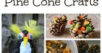 Creative things to make with pine cones. Fun craft ideas for kids.