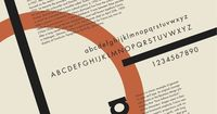 Here we see Futura presented in a constructivist style or something straight out of the Bauhaus. Maybe futuristic type of poster would have been more fitting? Either way, futura was popular in the 70's and why it has a retro feeling despite being crea...