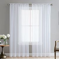 "HLC.ME White 54"" inch x 84"" inch Sheer Curtains Window Vo..."