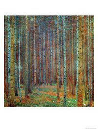 Makes me want to take more Art History classes Tannenwald (Pine Forest), Klimt 1902
