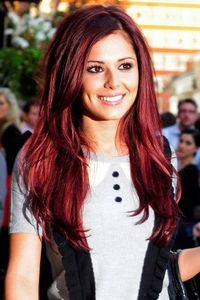 Loveee burgundy hair!