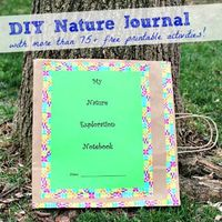 Create a DIY Nature Journal with free printable activities!
