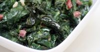 There are several ways you can prepare fresh spinach for a healthy side dish. One of the easiest ways is to sauté it in a pan. It only takes a few minutes to ma