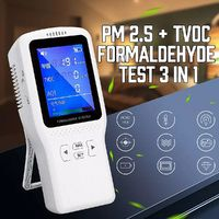 Air Quality Monitor Formaldehyde HCHO TVOC PM2.5 LCD Digital Detector