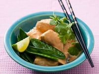 Thai Spicy Peanut Sauce with Poached Chicken