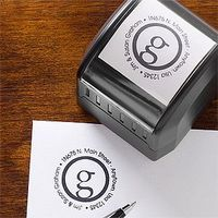 This site has the cutest designs for their return address stamps and they're way more affordable than most of the other sites out there ... these stamps are great Wedding Gift ideas because they save couples a ton of time and money when they're se...