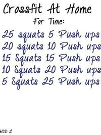 6 Crossfit workouts to do at home - Click image to find more DIY & Crafts Pinterest pins