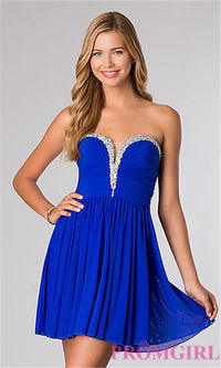 Jovani 21060 Short Beaded Homecoming Dresses
