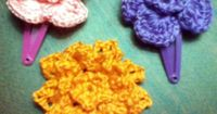 DIY Crochet flower clips for your girl boxes!
