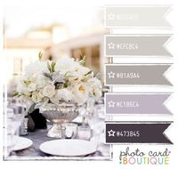 elegant and soothing colors...I love the combo of grey/silver, lavender but not sure about the darkest color. Also grey/browns