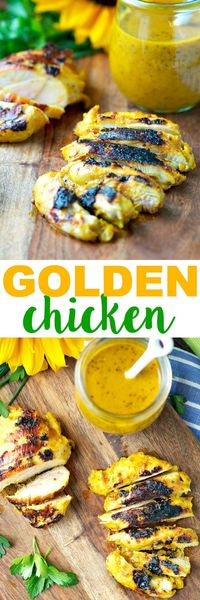 This light and crispy Golden Chicken is marinated in a honey dijon sauce and seasoned with just the right amount of turmeric for a healthy, flavor-packed dinner