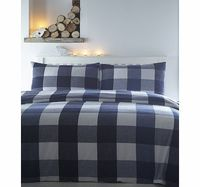 Bhs Warren Blue Brushed Cotton Bedding Set, blue Cosy up with a beautifully soft brushed cotton bedding set. This blue check design, will brighten up any bedroom and keep you warm during cold winter months. Made of 100% brushed cotton and woven in P h...