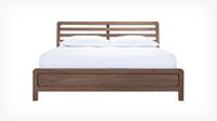 existing burrows platform bed java front, looks so good with white, would also look good with blue and gray.