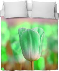 Light Green Tulip Duvet Cover $120.00