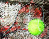 Contemporary tennis art print @etsy on takumipark. The tennis artwork is a photo print. #tennis #sportsart #tennisart #urbanart #tennisdecor