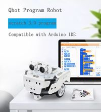 LOBOT Qbot Pro DIY Scratch3.0 Programmable Multifunctional Tracking Avoidance APP Smart RC Robot Car Compatible With Arduino