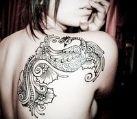 peacock tattoo, bird tattoos and tattoo designs.