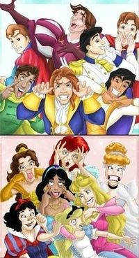 Laughing so hard! Always loved the princesses' pic, it's refreshing to finally see the princes let loose too!