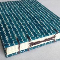 This tutorial shows you how to make a stunning combination coptic long-stitch archival book with step-by-step photography.