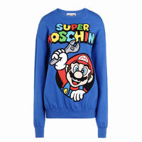 Moschino Super Mario Long Sleeve Sweater Blue