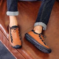 Breathable Casual Genuine Leather Men's Loafers Shoes2.jpg