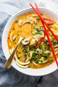 Paleo Coconut Curry Zoodle Soup