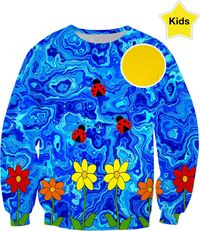 Blue Sky Summers Day Kids Sweatshirt $54.95