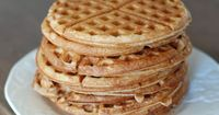 """Recipe - Whole-Wheat Waffles from 100 Days of Real Food Waffles aren't just for breakfast �€"""" you can use them as sandwich �€œbread�€ too!"""