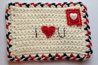 Ravelry: Crochet Valentine Airmail Envelope pattern by Ruby & Custard