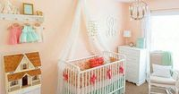 Pretty as a Peach Baby Crib Bedding Set by LottieDaBaby on Etsy Bedskirt