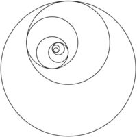 You can do some pretty cool stuff with the golden ratio. The image above is made from taking each quarter-circle in the golden spiral and expanding it into a fu