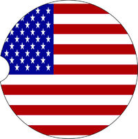 2 Absorbent Car Coasters with Flag. American Flag Car Accessories for her, Auto Coaster, Coaster, Cup Holder Coaster, Gift For Her, For Him $14.00