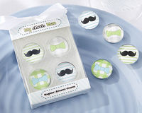 """My Little Man"" Mustache & Bowtie Magnets"